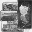 STAFFA. Herdsman Island; Fingal's Cave; Colonnade 1898 old antique print